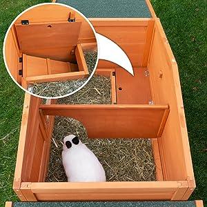Freilaufgehege Hasenstall mit Schublade KotschubladeKaninchenstall zooprinz groß xxl Kaninchenstall