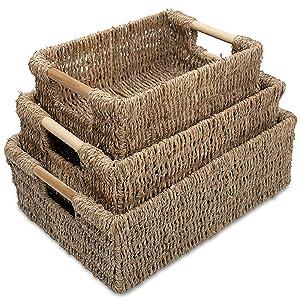 Medium seagrass baskets for home