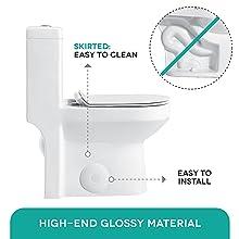 Skirted toilet