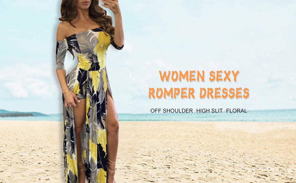 Floral Romper Dresses