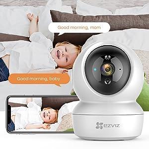 EZVIZ C6N WiFi Indoor Security Camera,1080P HD Pan/Tilt 360° Coverage Night Vision IP Camera