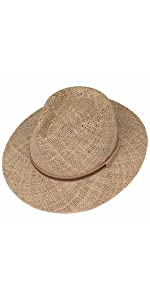 traveller straw hat sun summer women men beach italy leather wide brim