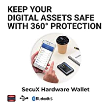 SecuX W20 Crypto-asset Hardware Wallet - Mobile-ready Bluetooth Wallet - Fully Supports Bitcoin