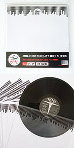 vinyl fever inner anti static rice paper sleeves for vinyl albums and scratch free storage