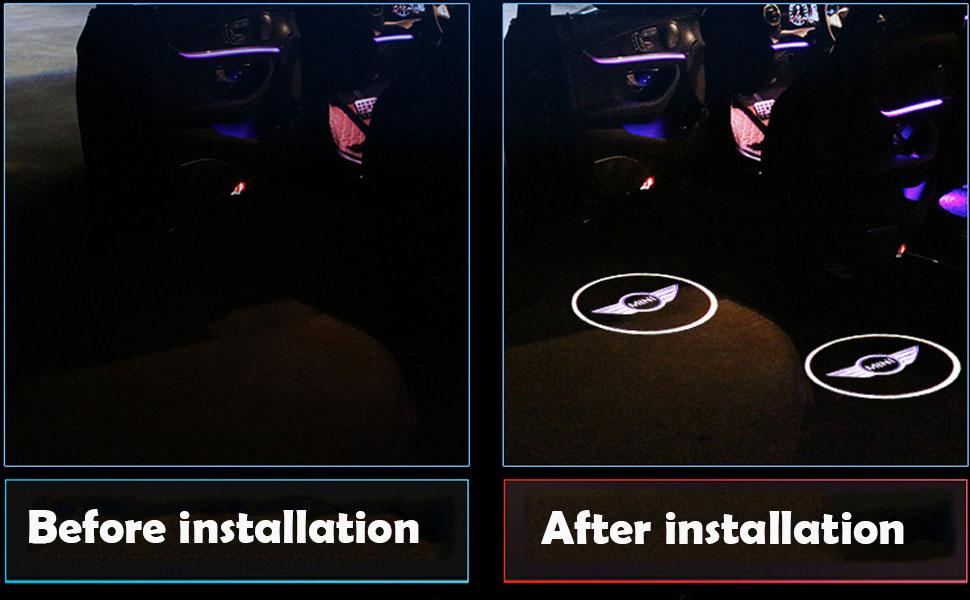 Spongent 2 pieces Car Door Light Courtesy Shadow 3D Lamps Logo Projector