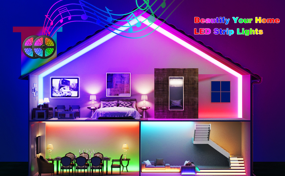 GUSODOR Smart LED Strip Lights