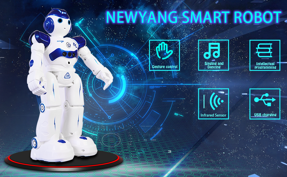 NEWYANG Robot de Juguete - Juguete Educativo electrónico Recargable Robot Juguete,Control Remoto Inteligente Programable Gesto Control Robot con ...