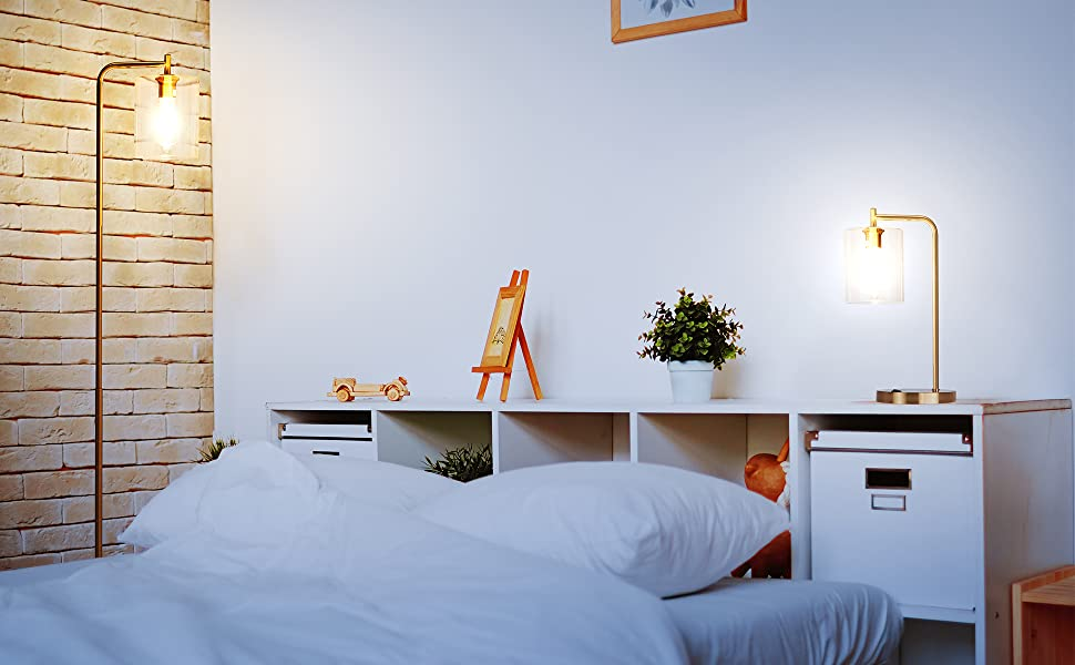 Brightech Elizabeth Set of 2 Lamps - Floor Lamp and Table Lamp Bundle