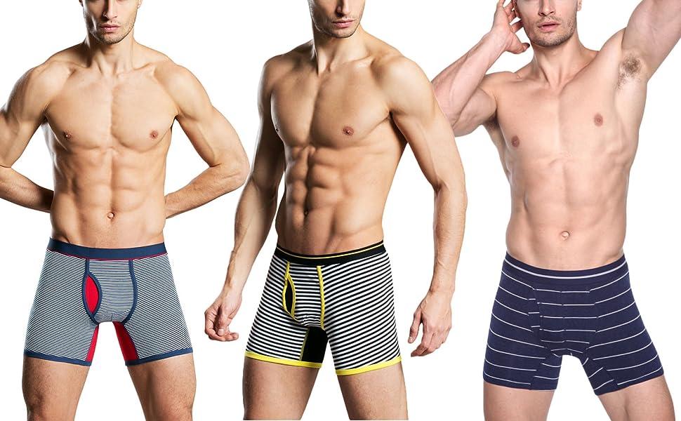 Model shows boxer shorts mens