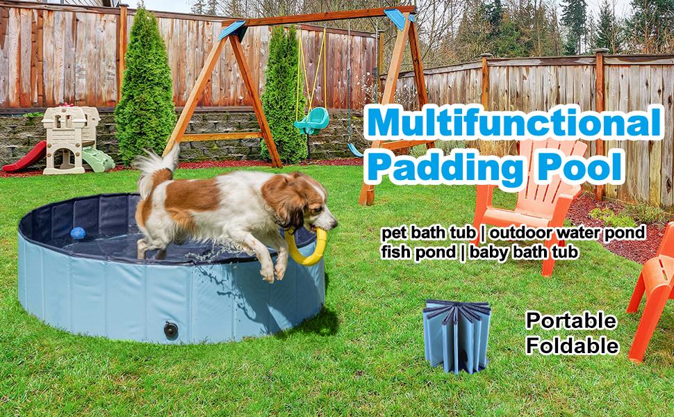Dog Pool Dog Playing Pool Dog Pet Swimming Pool Foldable Pool Dog Bathing Tub Dog Shower Pool