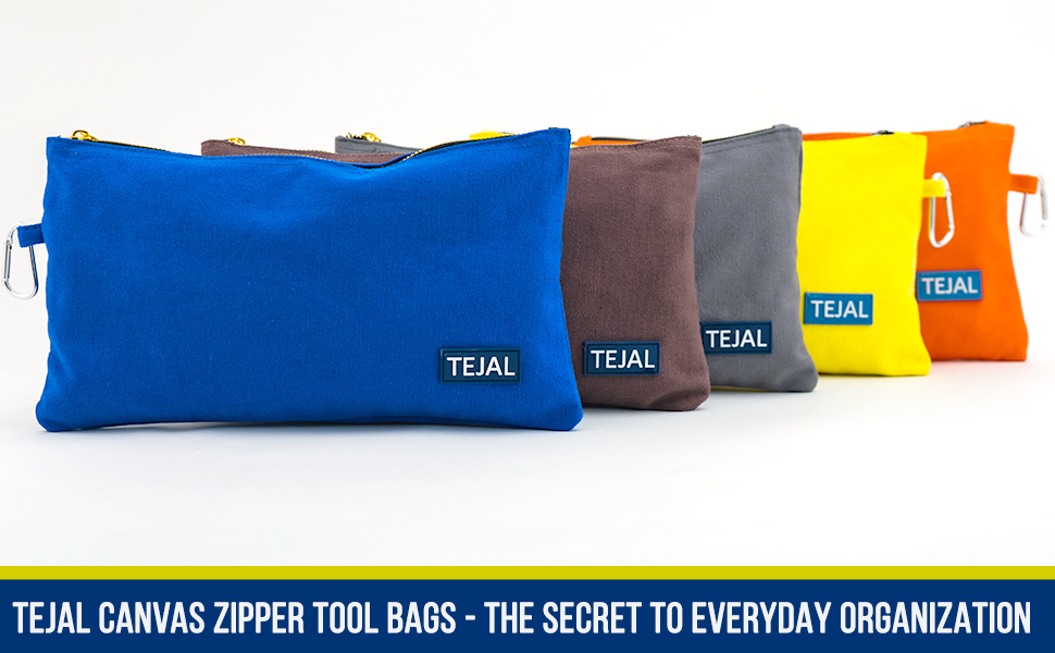 Large utility tote bag OR Canvas zipper tool bags