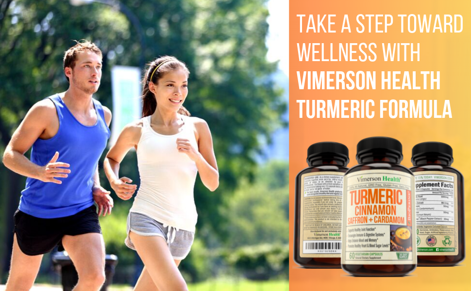 Turmeric cinnamon saffron cardamom natural dietary supplement for overall health. 60 easy to swallow