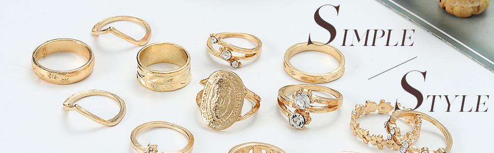 rings set for women boho rings edary rings for women