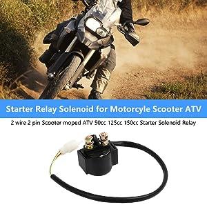 Keenso Motorrad Starter Relais Magnetschalter On Off Schalter Für 50cc 125cc 150cc 250cc Motorrad Atv Auto