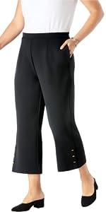Knit Crepe Crop Pants