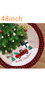 48 Inches Christmas Burlap Tree Skirt