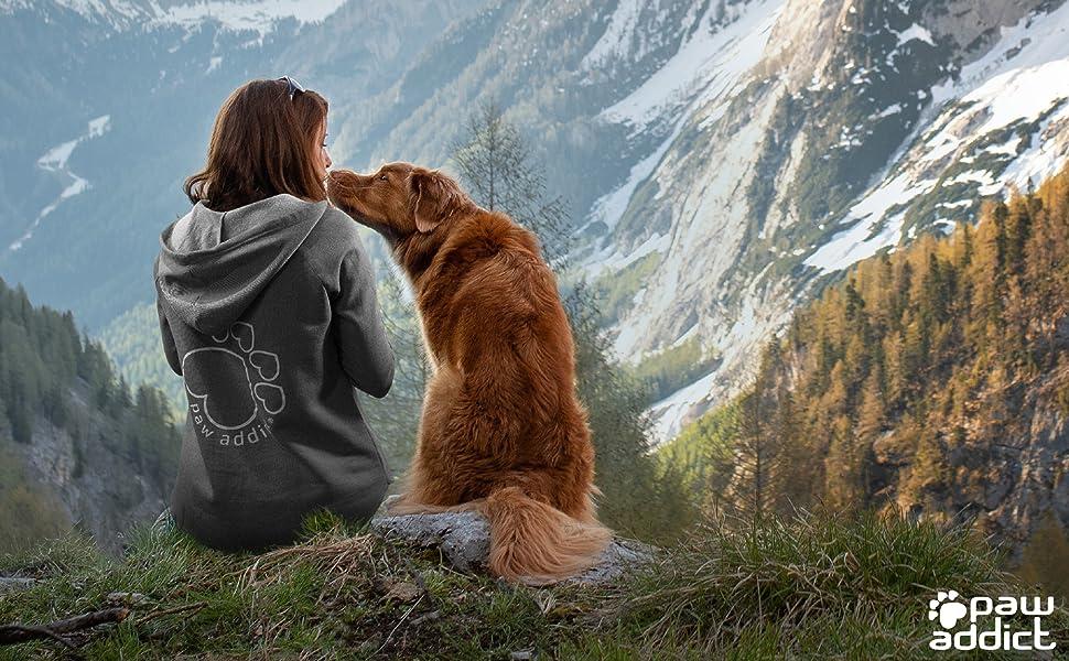Paw Addcit Cat Dog Mom Sweatshirts Hoodies for Women and Girls
