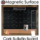 magnetic, cork, bulletin, combo board, chalk markers, chalkboard, chalk calendar, calendar