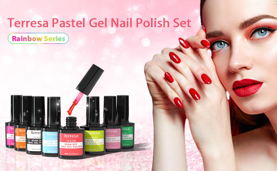 Terresa Pastel Gel Nail Polish Set