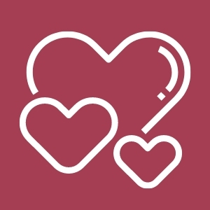 Image of hearts, Give Love and Care