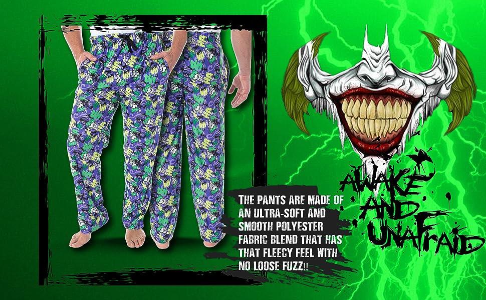 DC Comics The Joker HA para hombre. ¡HA! ¡HA! Adulto Sleep Lounge Pantalones de pijama Halloween Volver a la Escuela