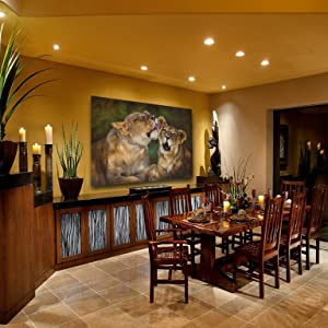 lioness and cub staging dining room