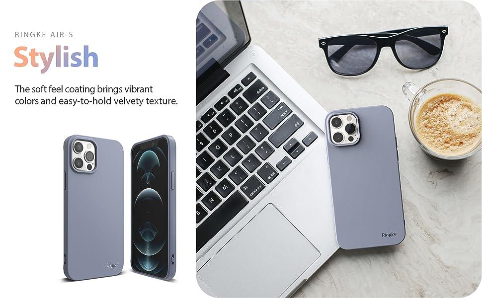 "Ringke Air-S Case Designed for iPhone 12 Pro, 12 Case with Lanyard Shoulder Strap 6.1"""