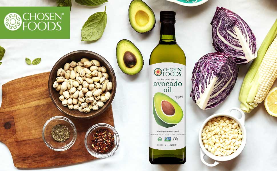 Chosen Foods Avocado Oil non-gmo high-heat bake fry saute dressing heart-healthy primal better food