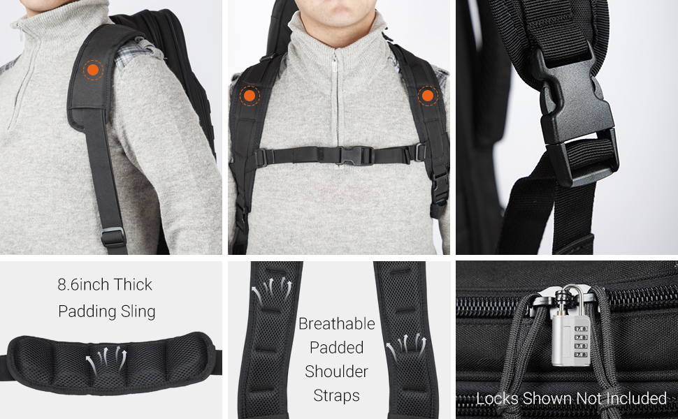 HUNTSEN Tactical Rifle Bag Backpack soft padded gun case 30 inch 34 inch