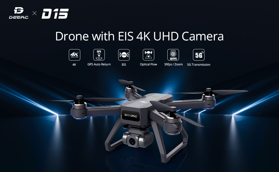 D15 Drone with 4K EIS Camera