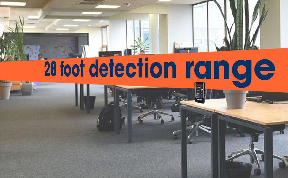 28 foot bug detection range