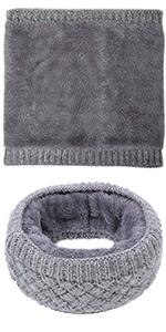 Fleece Gray Neck Warmer