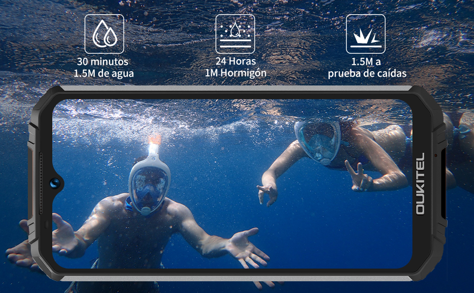 OUKITEL WP6 IP68 Móvil Libre Resistente,6.3 FHD+ (Gorilla Glass ...