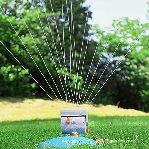 Gruntek Mini Rasensprenger Mit 16 Dusen Bis 378 M2 4069 Ft2 Bewasserungsflache Mit Turbo Motor Viereckregner Sprinkler Rasen Sprenger Amazon De Baumarkt
