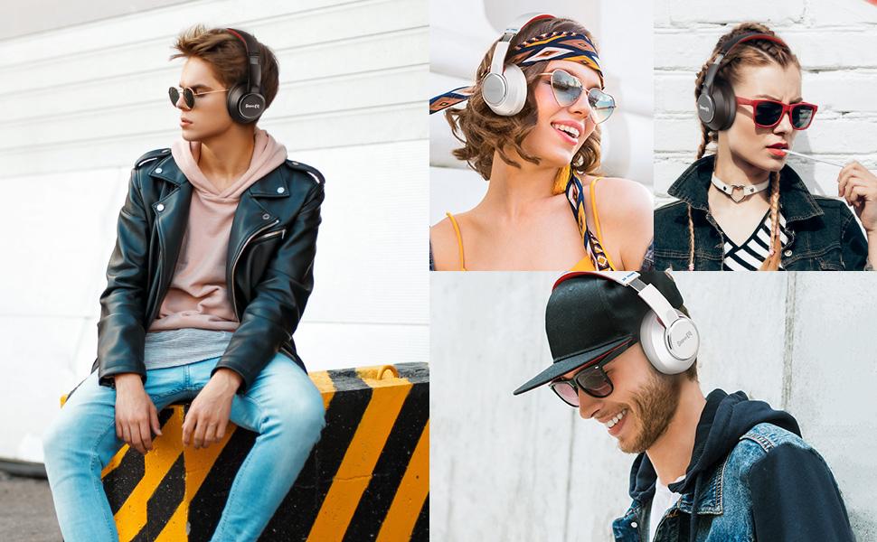 SuperEQ S2 hybrid active noise cancelling headphones