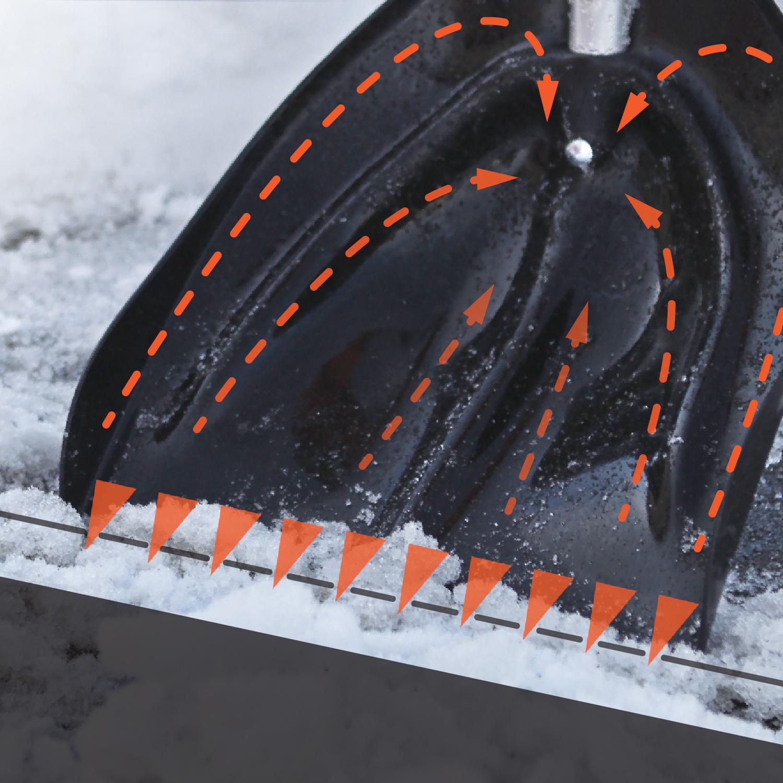 Pferdezucht Professionelles Ger/ät f/ür die Schneeentfernung im Garten Aluminium c38 EFEKT schwerbelastbare Schneeschaufel//Eisschaber//Eiskratzer//Schneeschieber Landwirtschaft