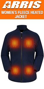 men`s heated fleece jacket