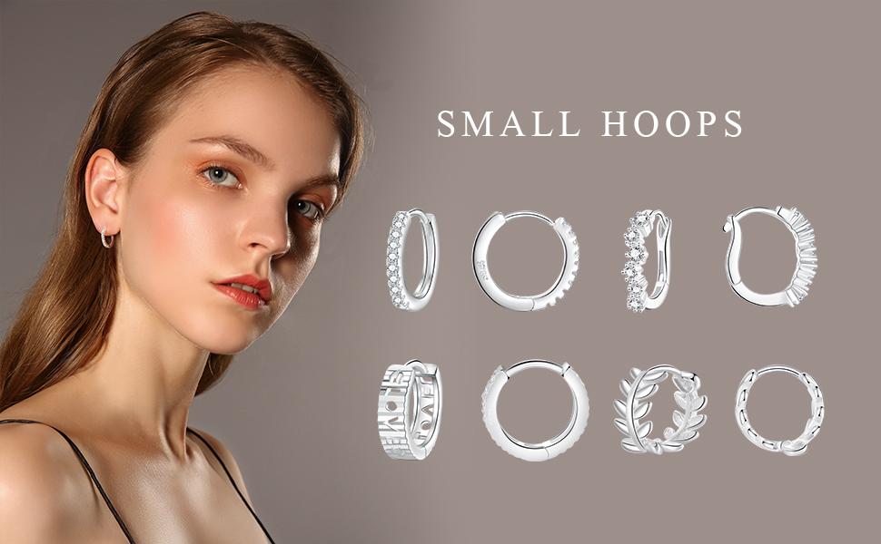 small sterling silver hoop earrings