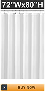 Amazon Com N Y Home Extra Long Fabric Shower Curtain Or Liner 72