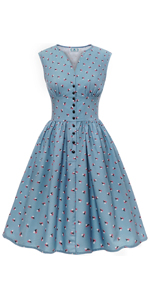 floral tea dress vintage