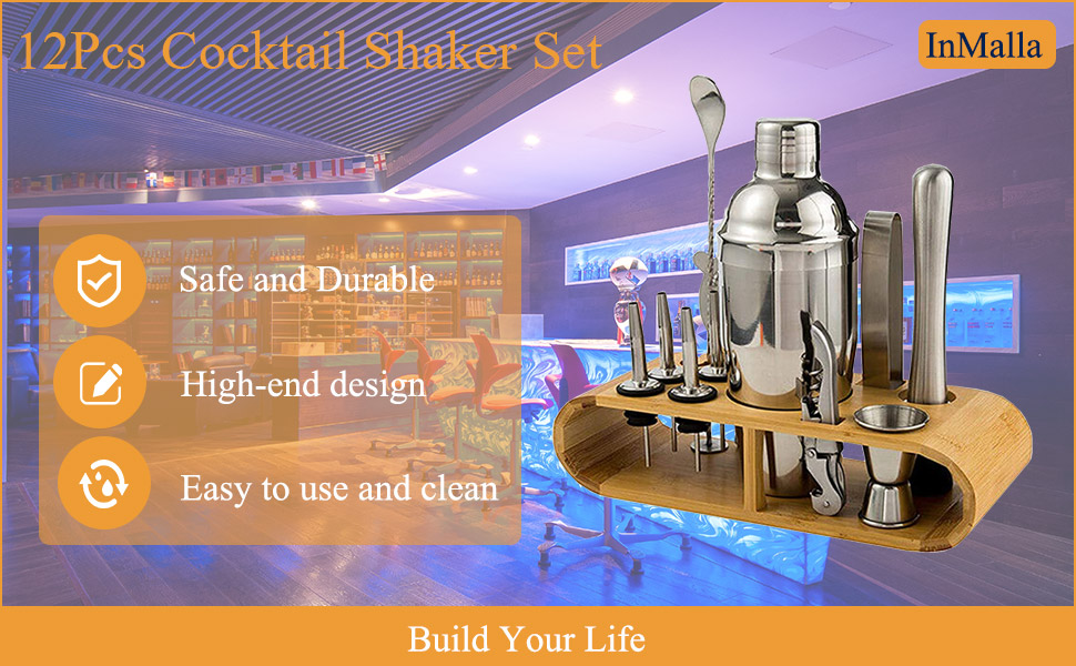 InMalla 12Pcs Cocktail Shaker Set