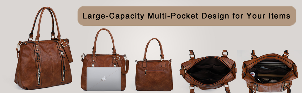 Large capacity design for your items Well organize your essentials in this hobo bag.