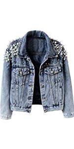 Pearl Short Denim Jacket Coat
