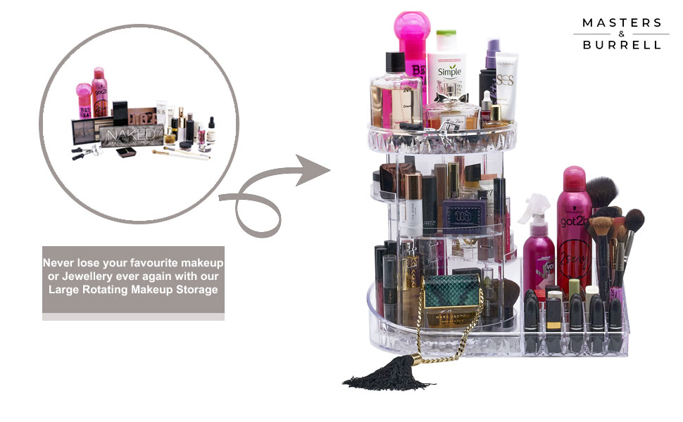 Large Rotating Makeup Storage