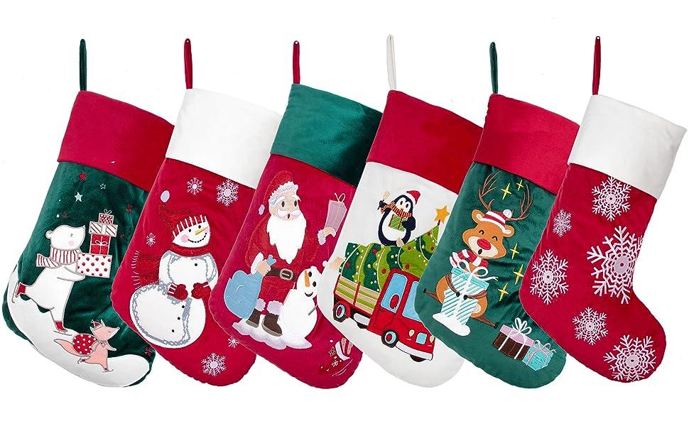 velvet christmas stocking 11