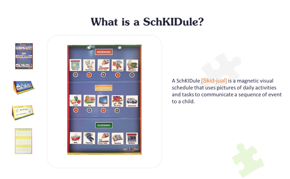 kids visual schedule