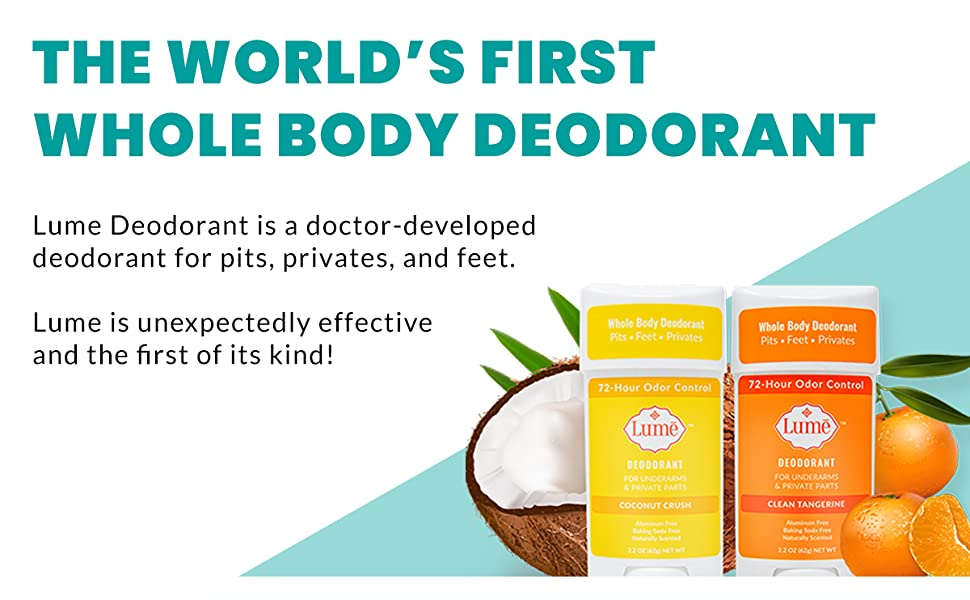 whole body deodorant dodorant deodrant lume natural aluminum free baking soda free