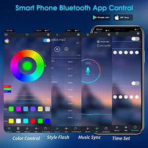 app controlled led strip lights