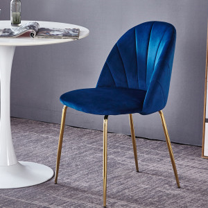 navy blue mid-century modern side chairs