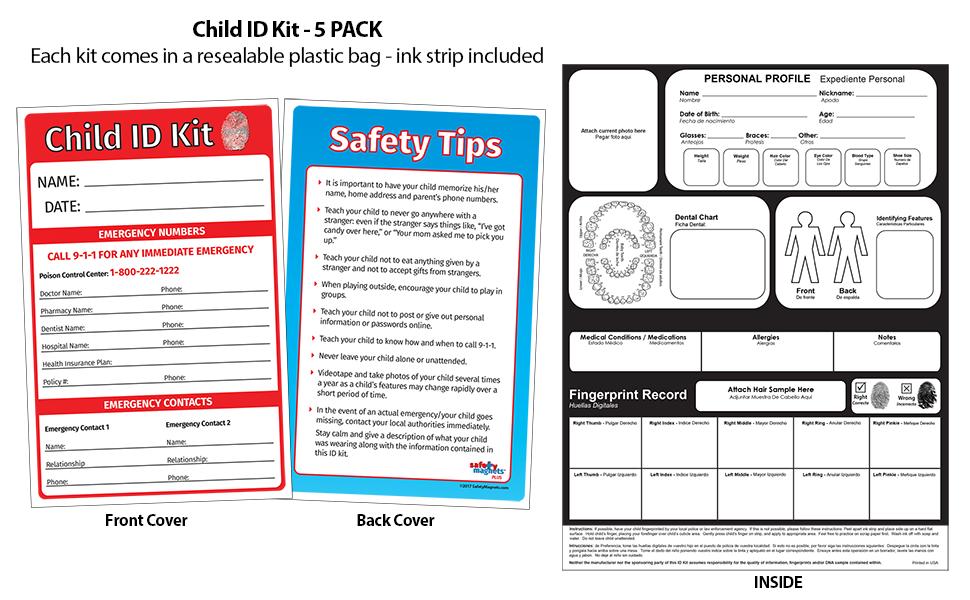 Child ID Fingerprint Kits